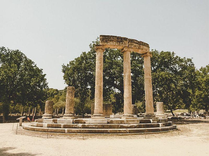 Tempelruine in Olympia
