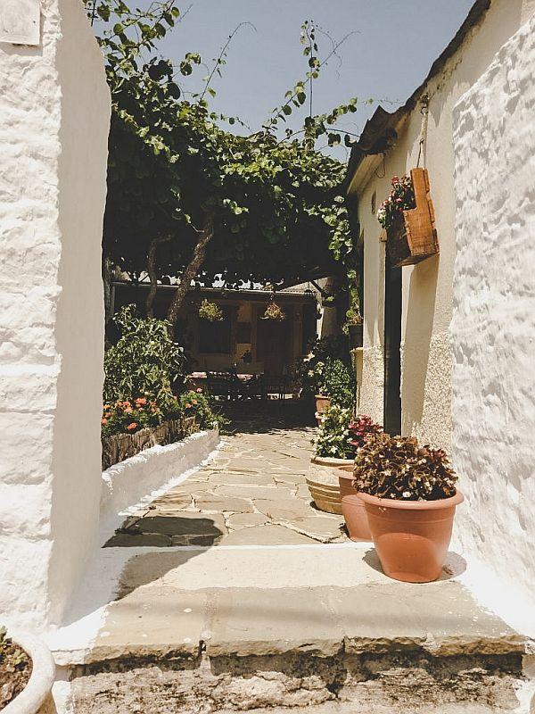 Eine schöne Terrasse in Griechenland