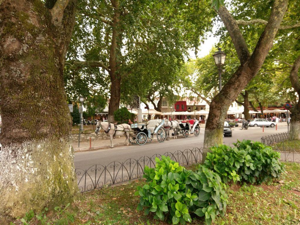 Pferdekutschen im Stadtzentrum