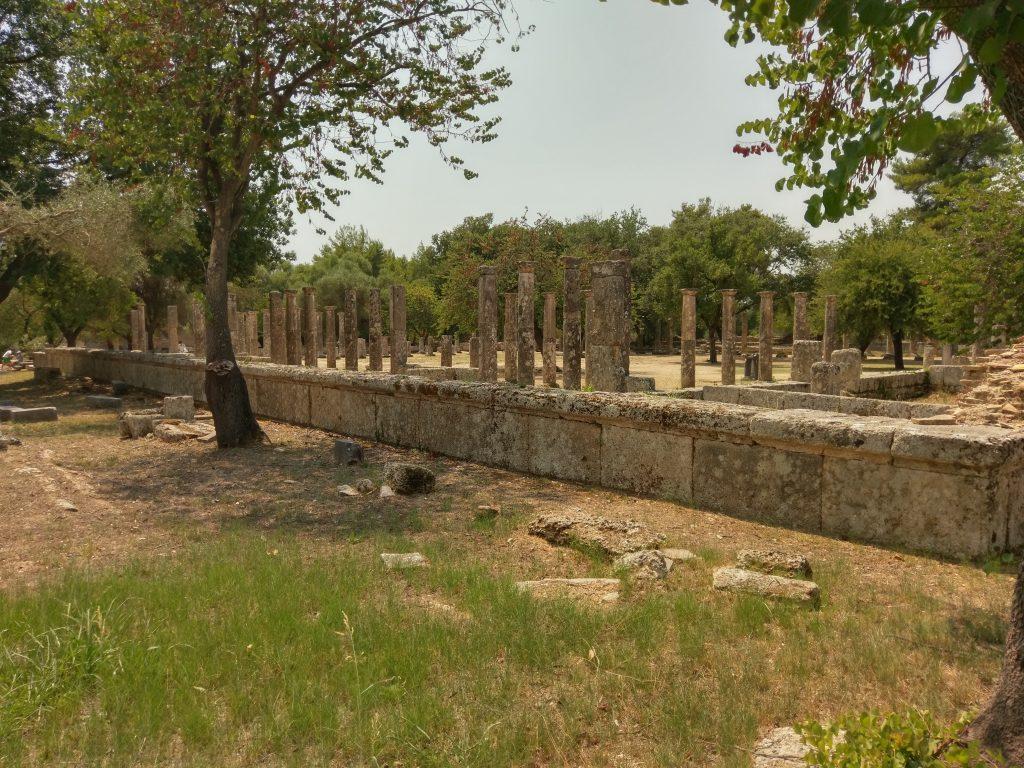 Die Säulen des ehemaligen Gymnasiums
