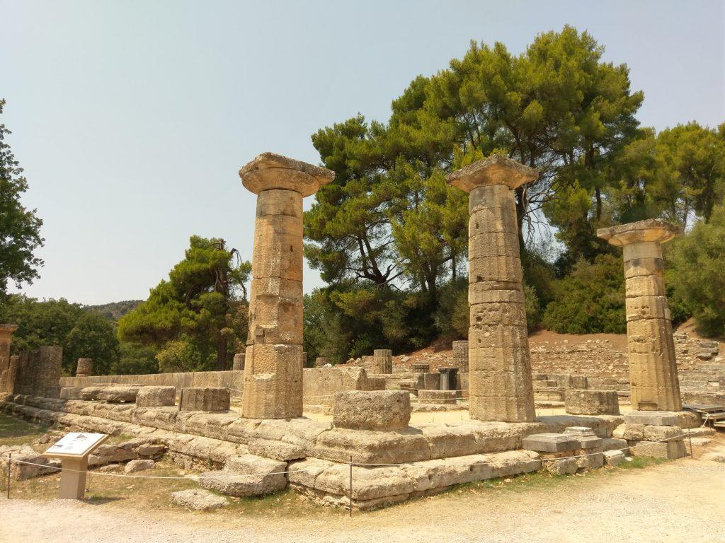 Die Überreste des Hera-Tempels