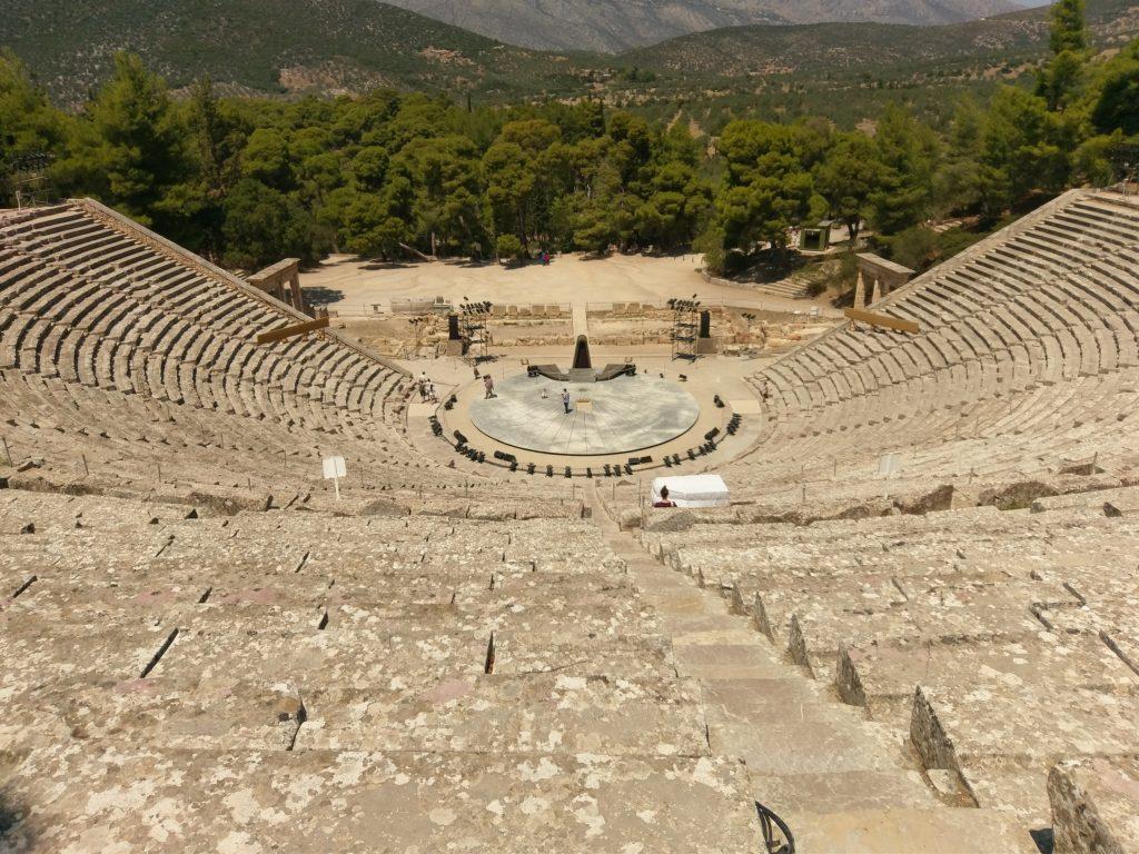 Ausblick auf das Antike Theater von den letzten Reihe