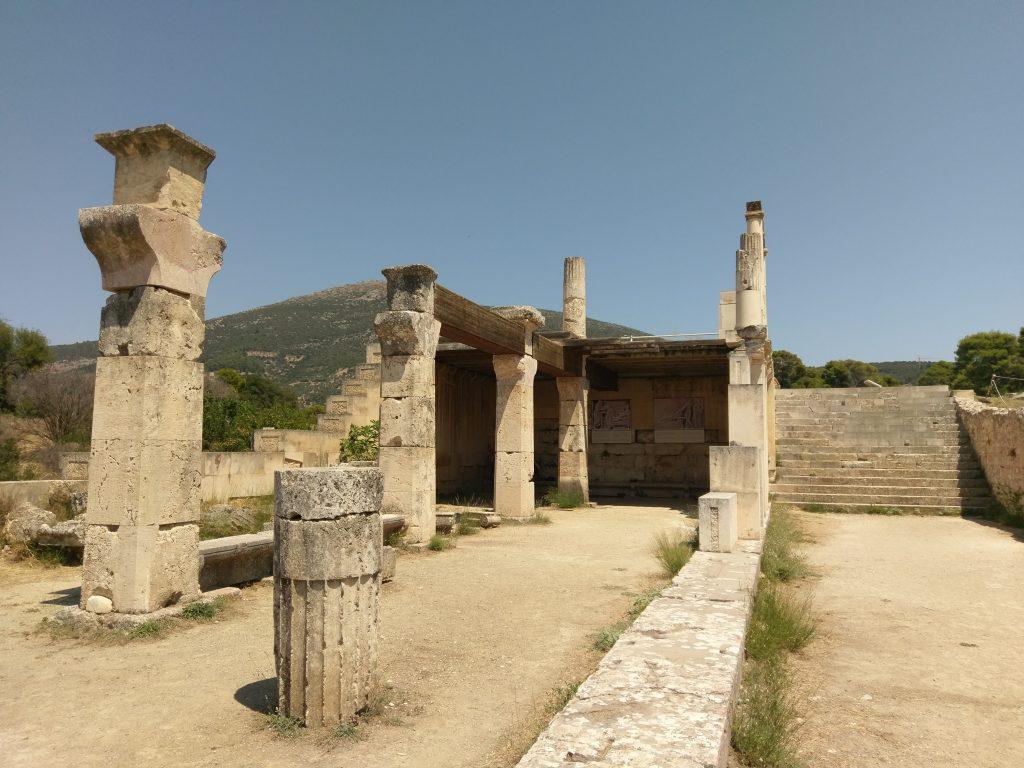 Die Ruinen des Asklepieion