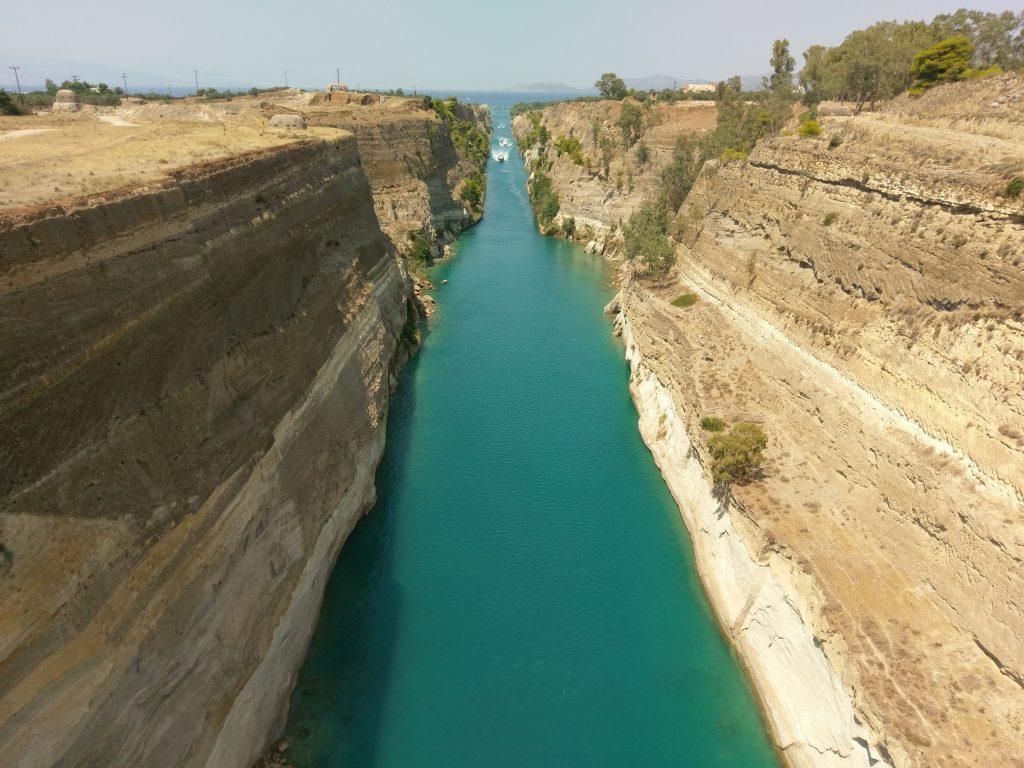 Blick auf den Kanal von Korinth