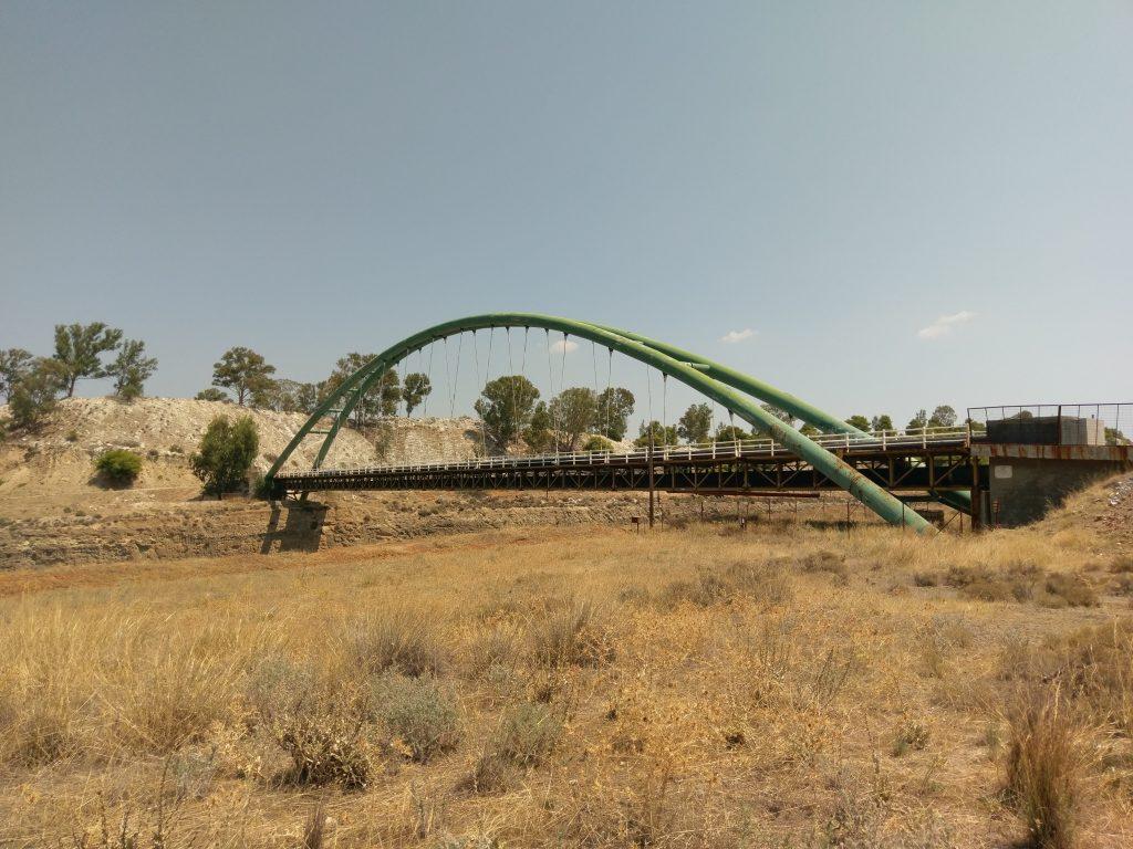 Die alte Stahlbrücke am Kanal von Korinth