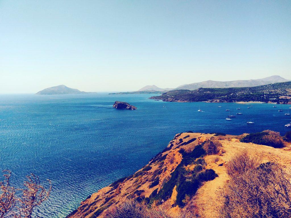 Ausblick auf das Mittelmeer und die umliegenden Inseln