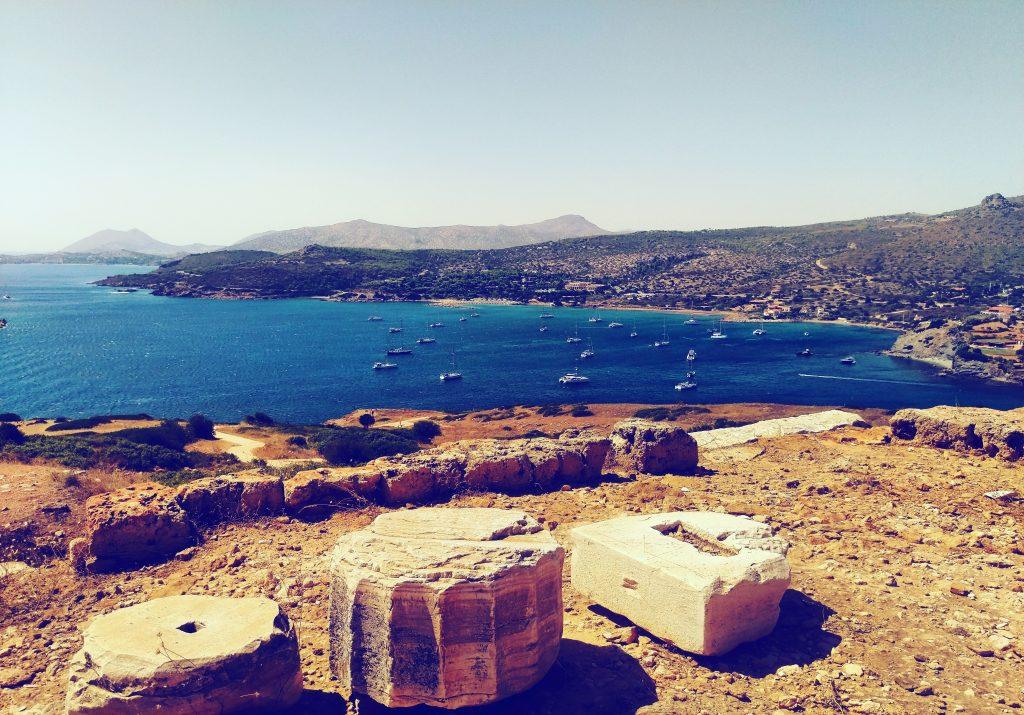 Blick auf das Mittelmeer vom Tempel aus