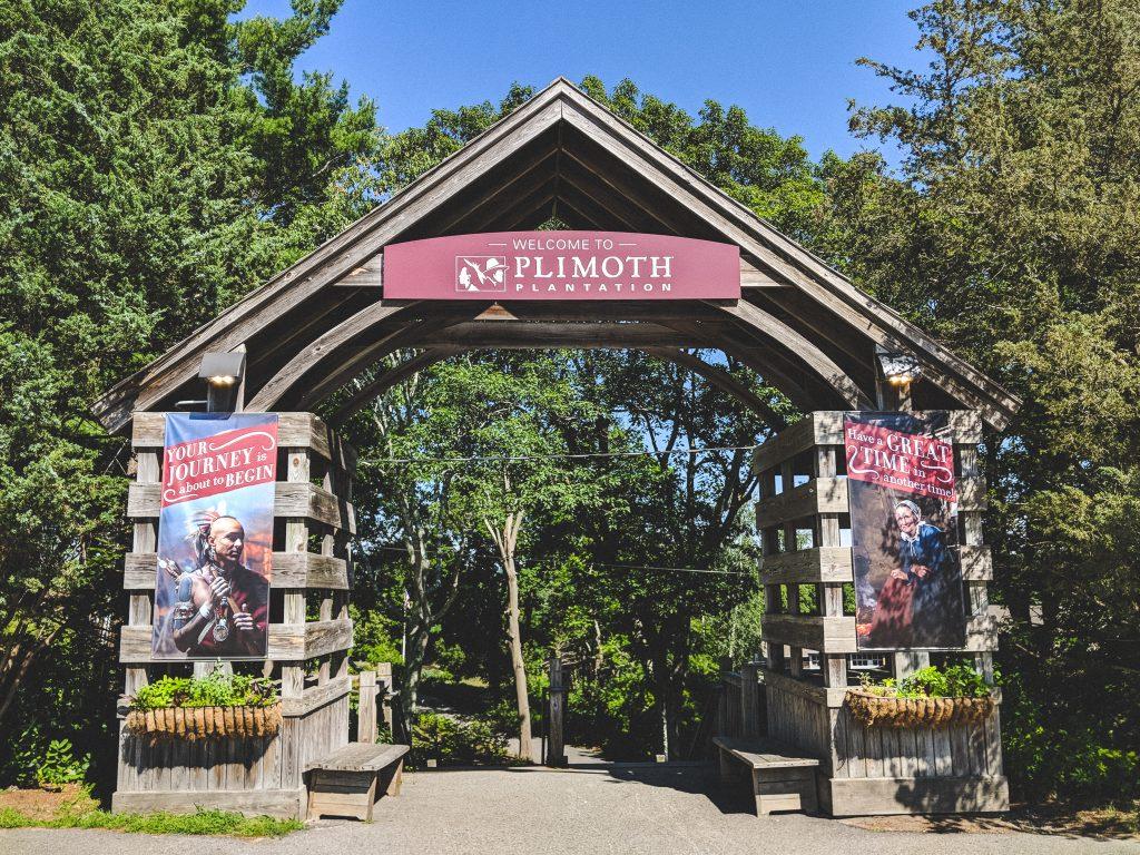 Der Eingangsbereich zur Plimoth Plantation