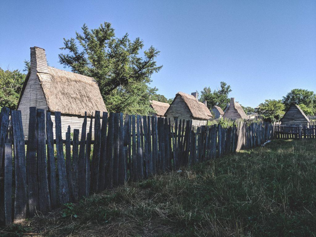 Die Häuser wurden sowohl nebeneinander als auch hintereinander gebaut