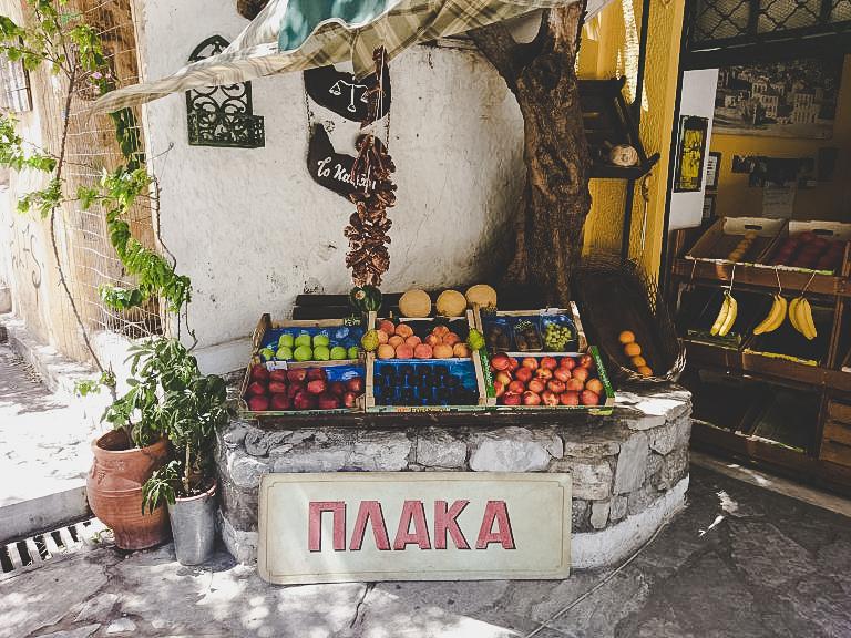 Griechischer Obststand in Athen