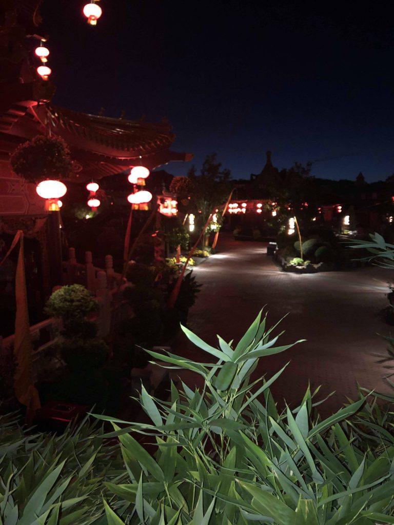 Blick in den Freizeitpark - ohne Besucher
