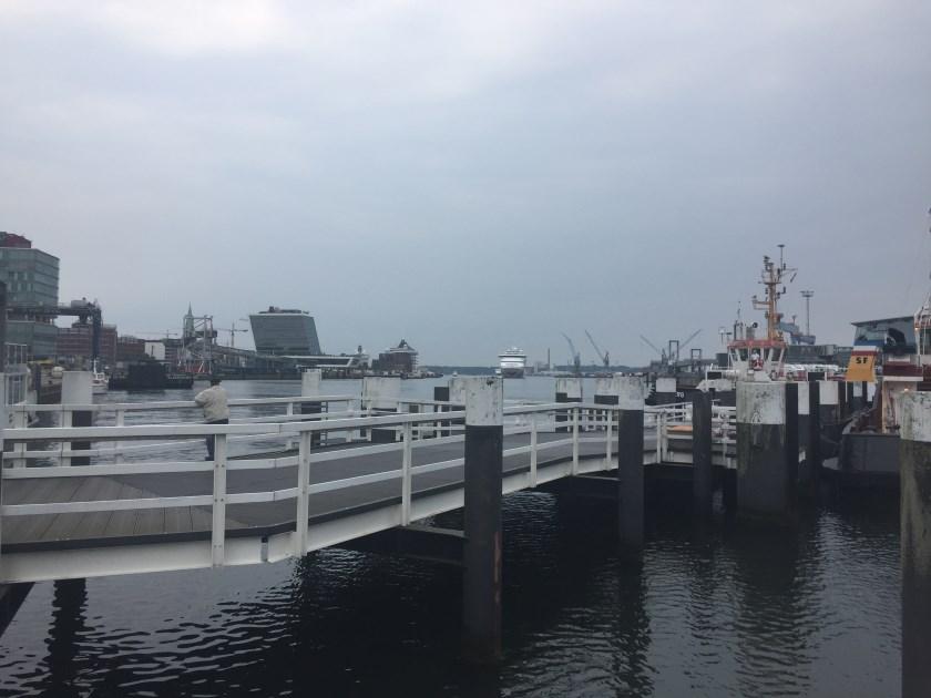 Blick auf dem Hafen von der Hornbrücke