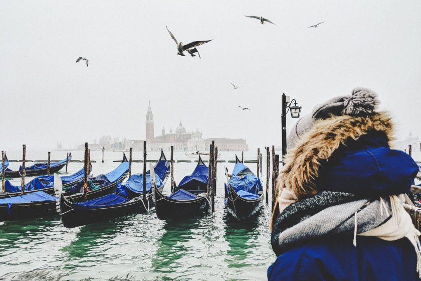 Dick eingepackt in Venedig