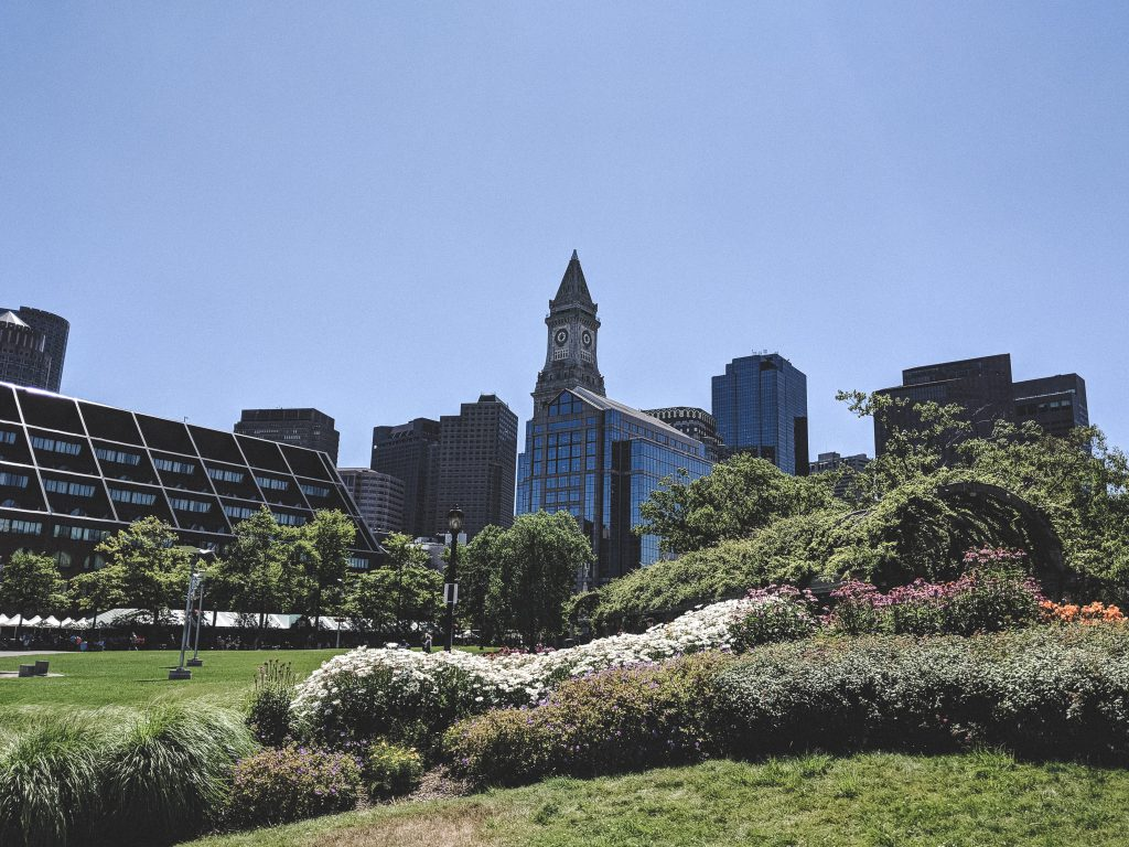 Die Bostoner Innenstadt an der Waterfront