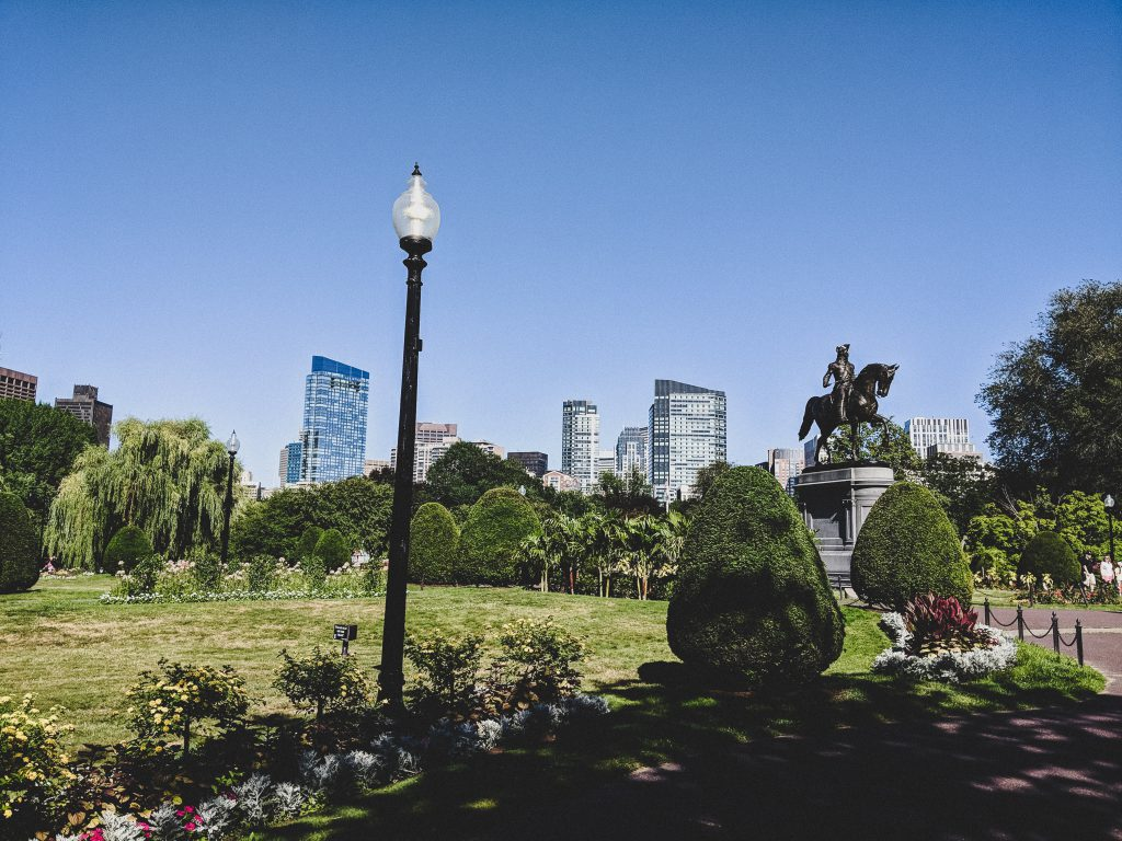 Die George Washington Reiterstatue im Public Garden