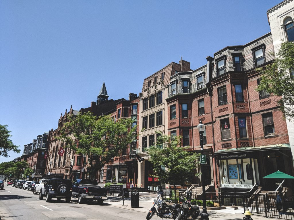 Shoppen in der Newbury Street