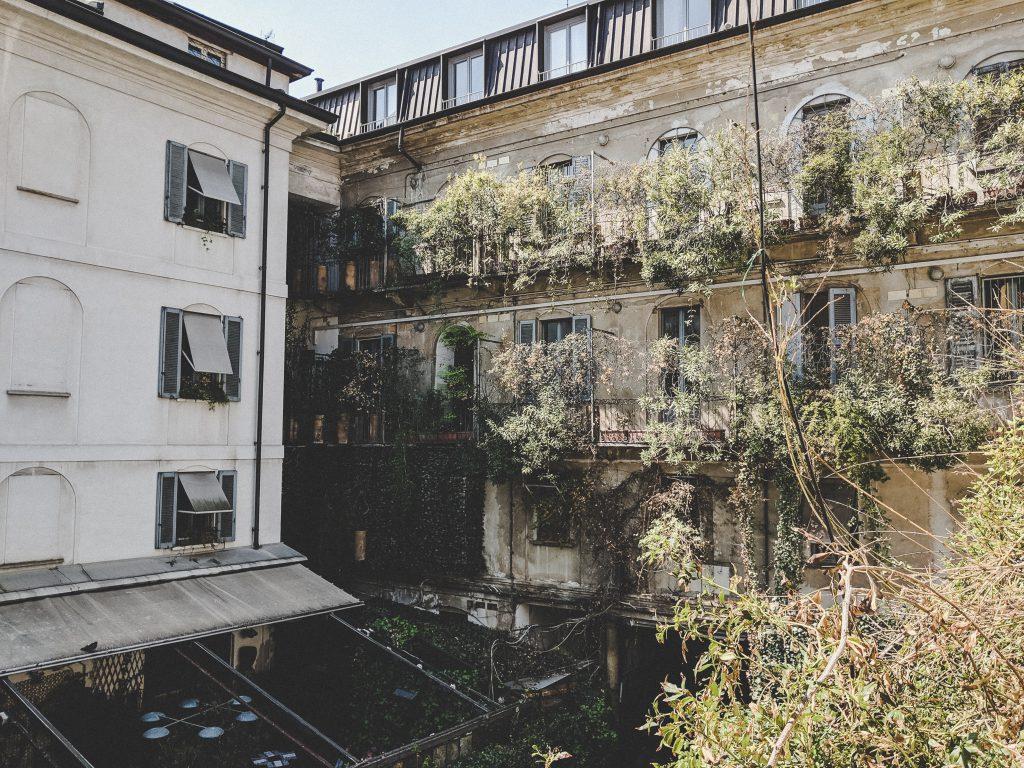 Der Hinterhof des Corso Como 10 in Mailand