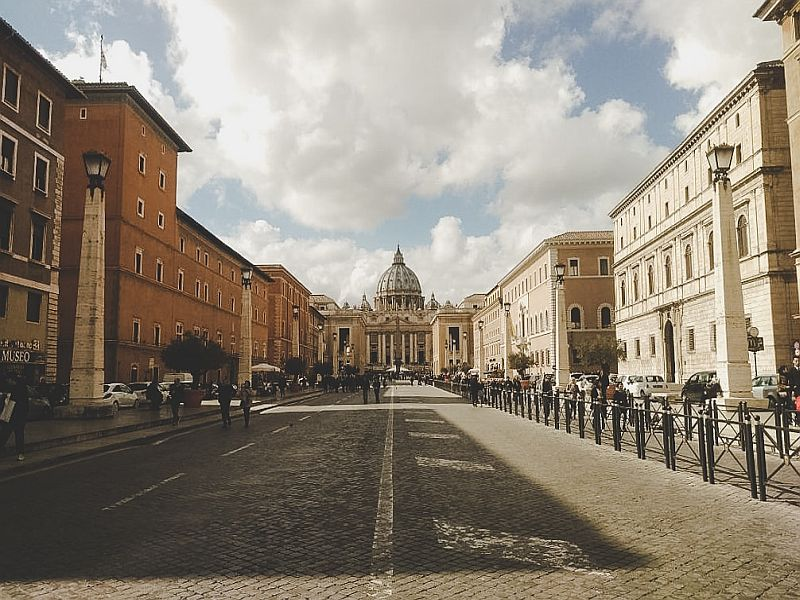 Auf der Via della Conciliazione