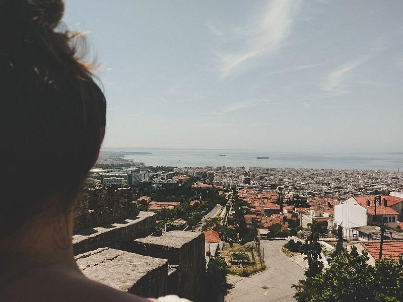 Der Blick auf Thessaloniki