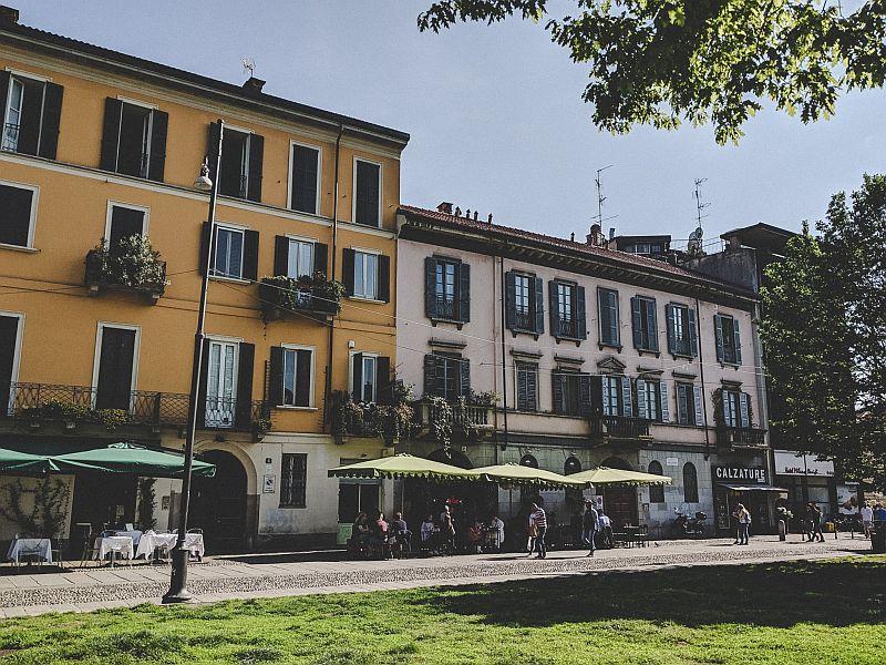Eine Seitenstraße in der Nähe der Corso di Porta Ticinese