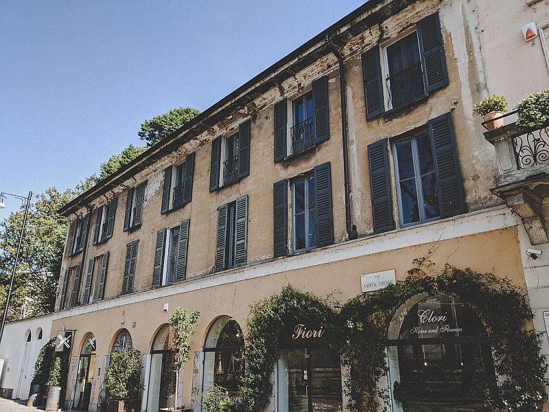 Wunderschöne Architektur an der Porta di Ticinese