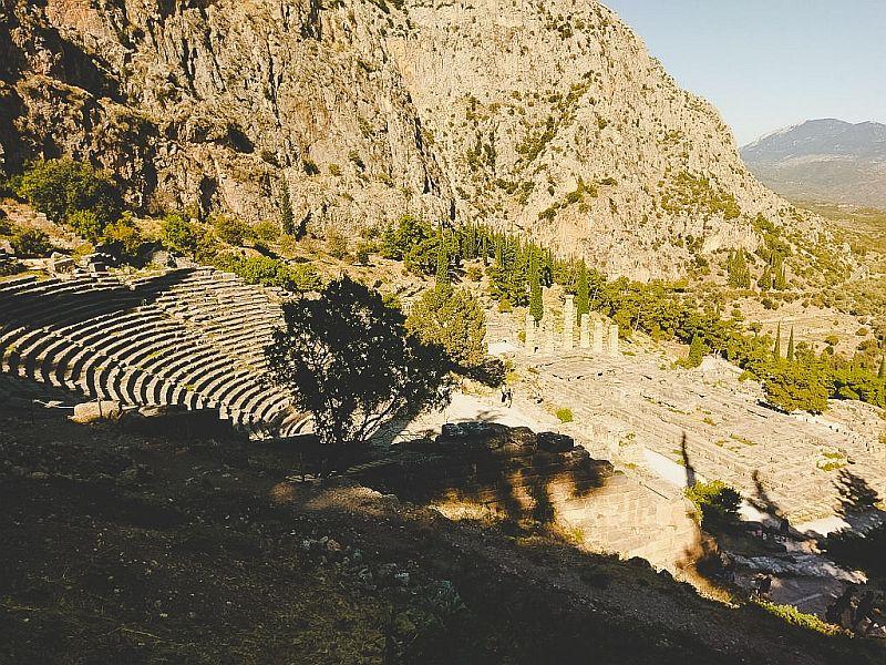 Das antike Theater in Delphi
