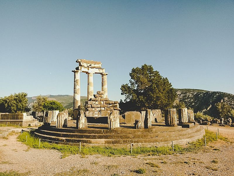 Der Athenatempel in Delphi