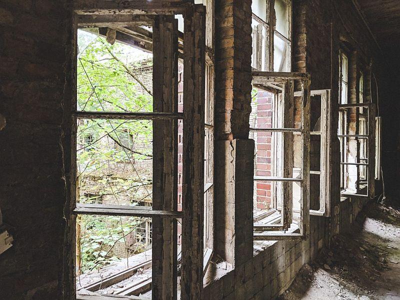 Verkommene Fensterrahmen