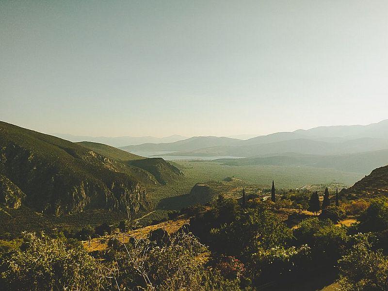 Wundervolle Landschaft im Parnassgebirge
