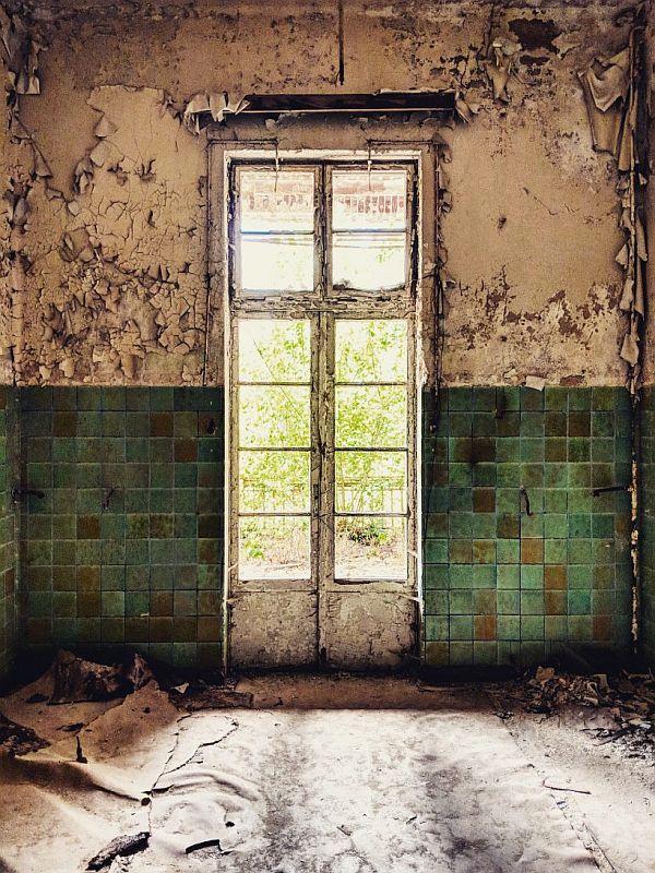 Blick in eine ehemaliges Patientenzimmer