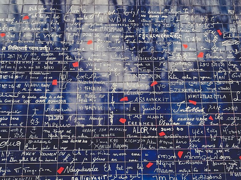 Die Liebesmauer in Paris