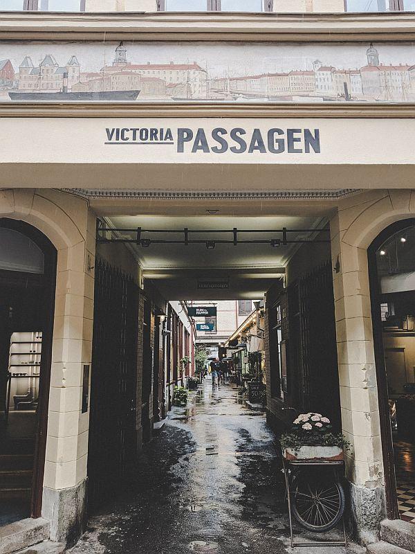 Eingang zu den Victoriapassagen