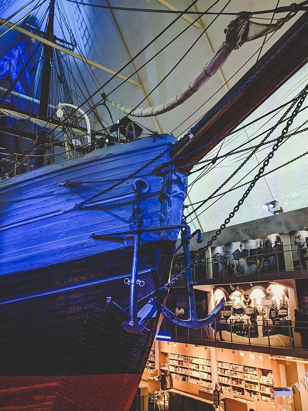 Das Expeditionsschiff Fram im Fram Museum Oslo