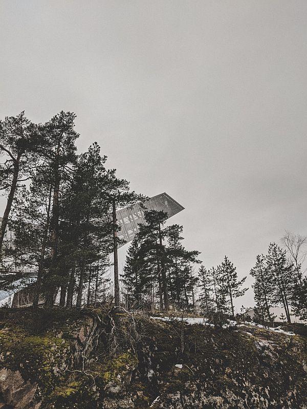Die Skisprungschanze auf dem Holmenkollen
