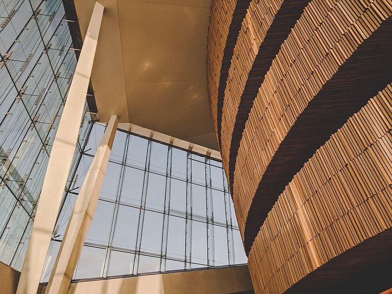Die einzigartige Architektur im Osloer Opernhaus
