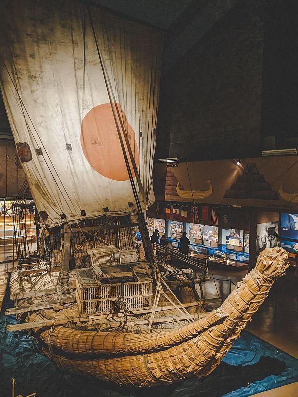 Das Papyrusboot im Kon-Tiki Museum Oslo