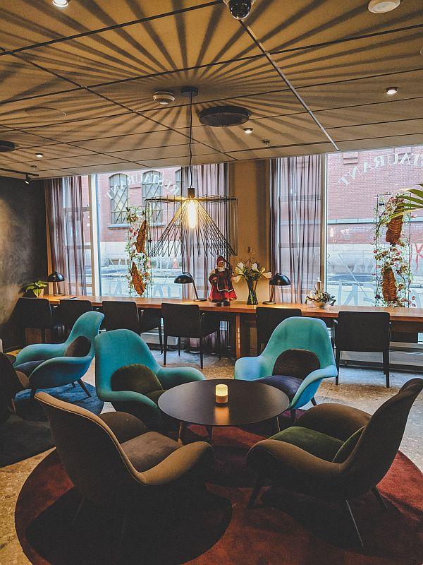 Die Lobby des Scandic Victoria in Oslo