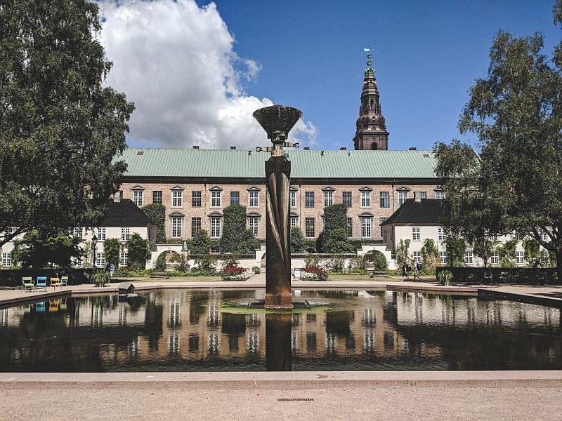 Der königliche Bibliotheksgarten in Kopenhagen