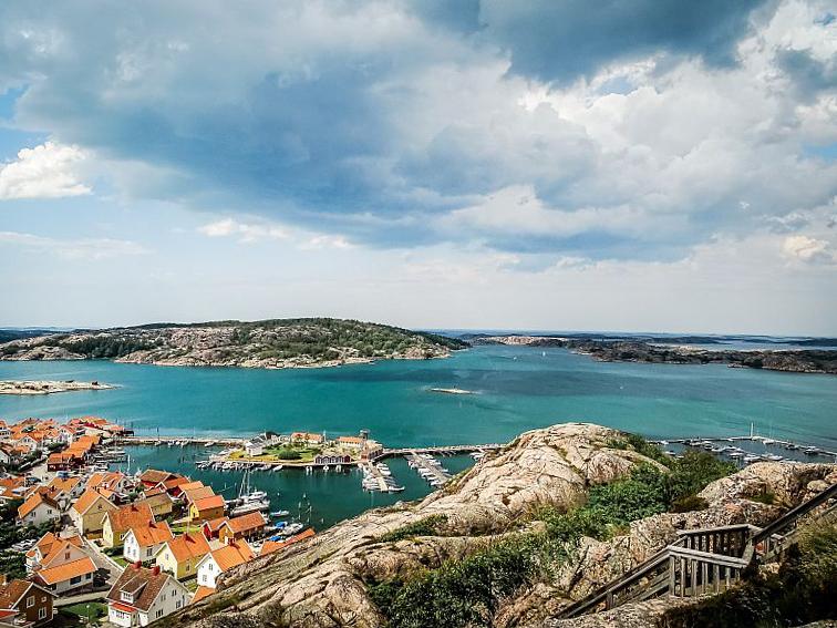 Wunderschöner Ausblick auf Fjällbacka in Bohuslän Schweden