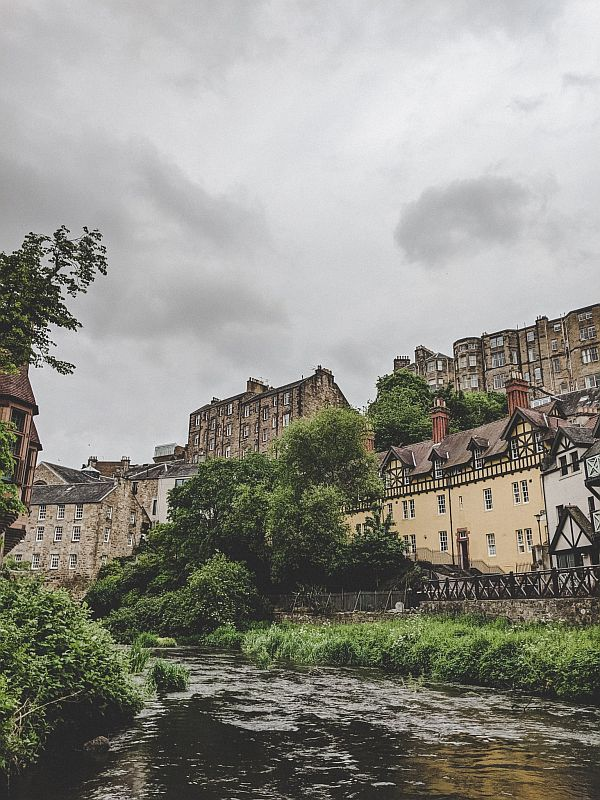 Im Tal des Dean Village in Edinburgh