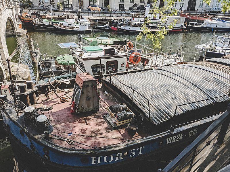 Der historische Schleppkahn Horst