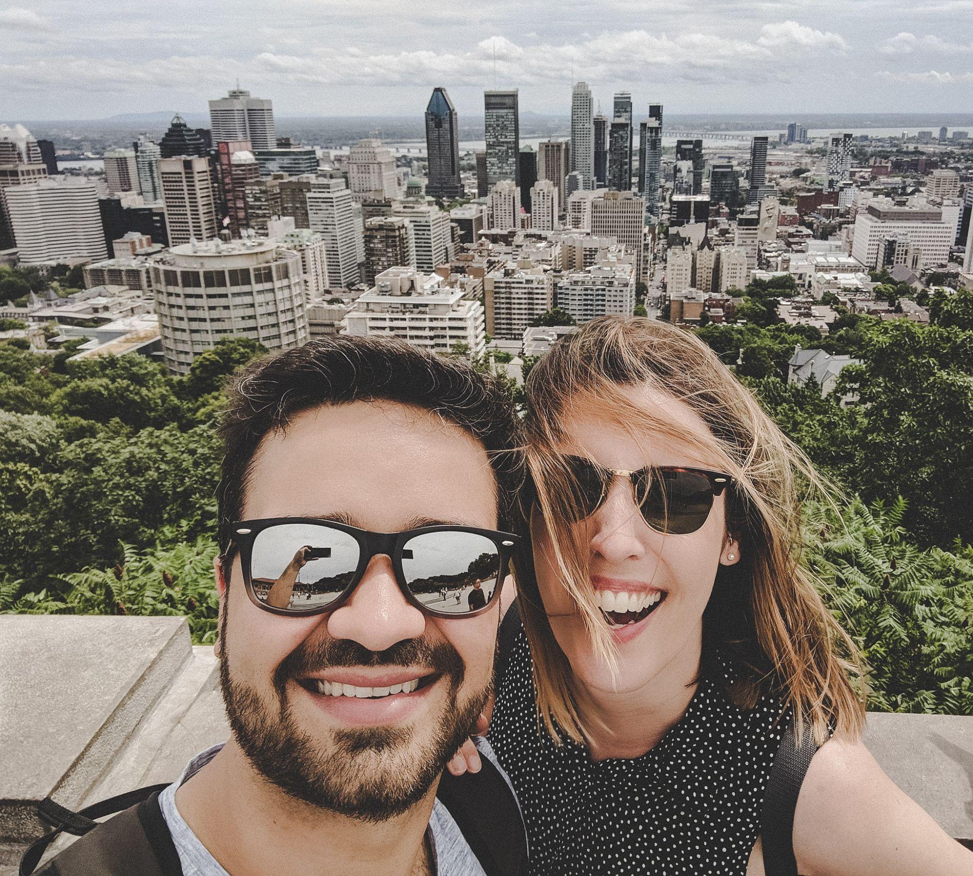 Roman und ich in Montréal