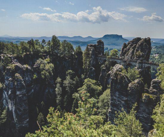Sächsische Schweiz - Blick auf die Basteibrücke