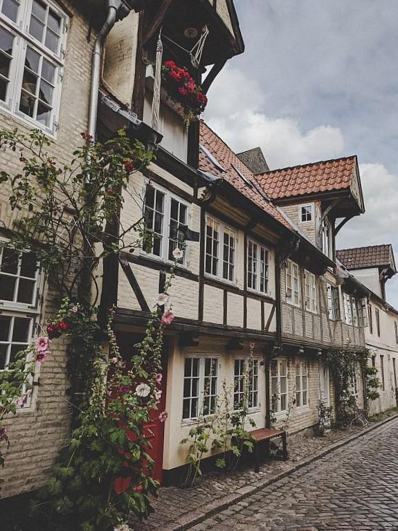 Schöne Fachwerkhäuser in Flensburg