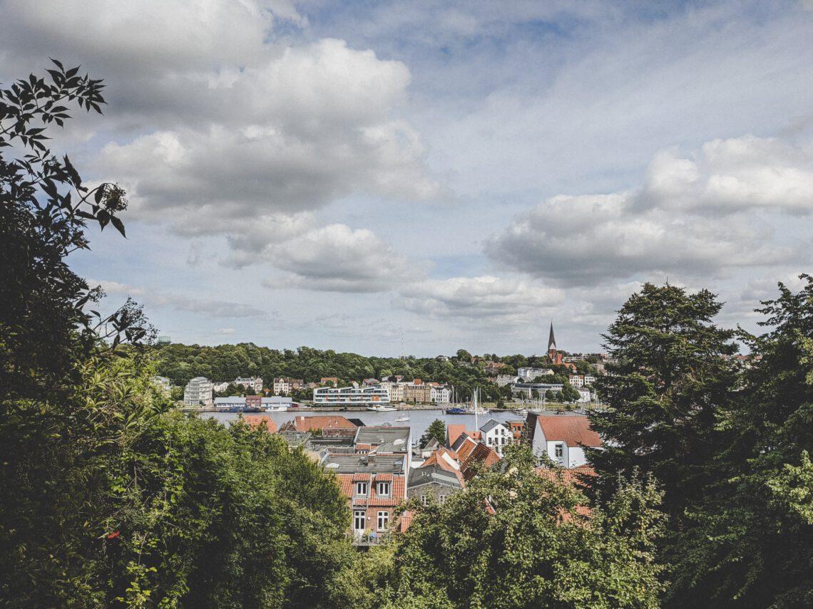 Flensburg Sehenswürdigkeiten - Ausblick von der Aussichtsplattform Duburg