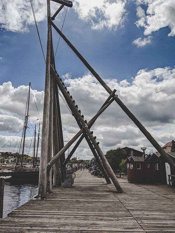 An der Hafenpromenade in Flensburg