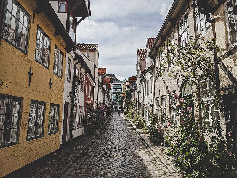 Flensburg Sehenswürdigkeiten - Blick in den Oluf-Samson-Gang