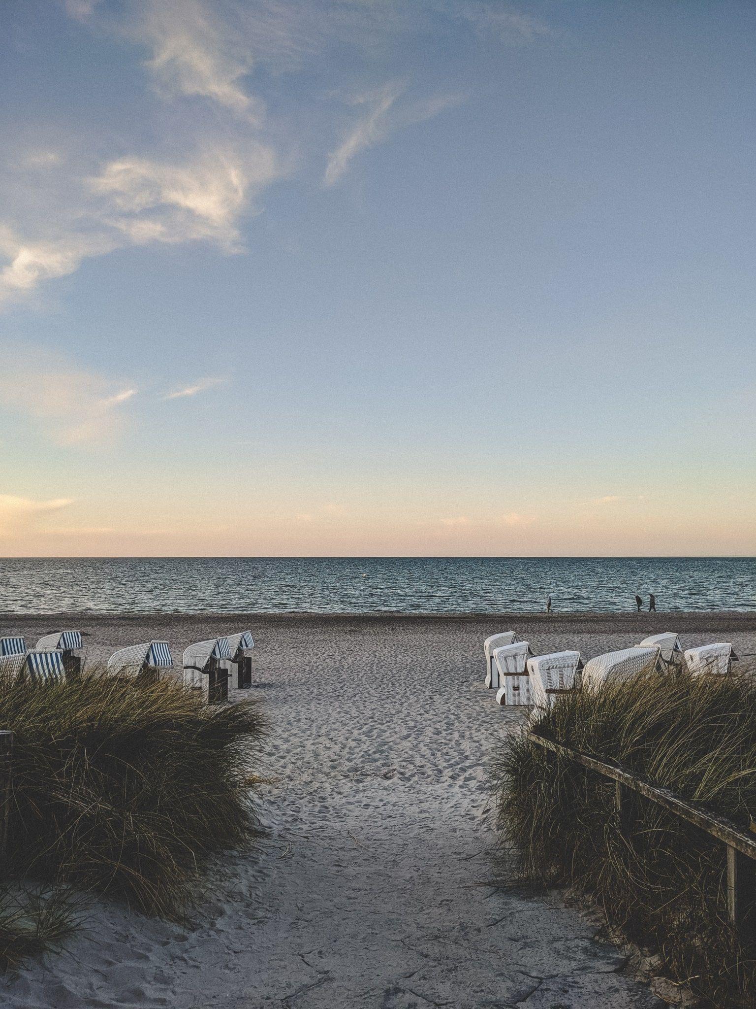 Boltenhagen Tipps - Der Strand zur Abenddämmerung