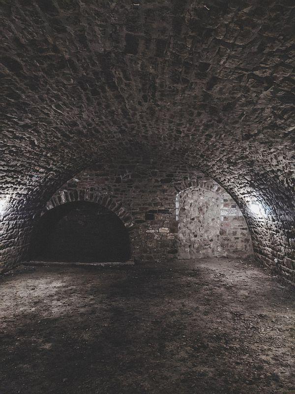 Das Gewölbesystem im Tiefen Keller in Merseburg
