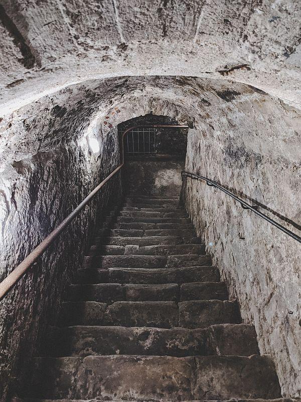 Treppe zum Tiefen Keller Merseburg